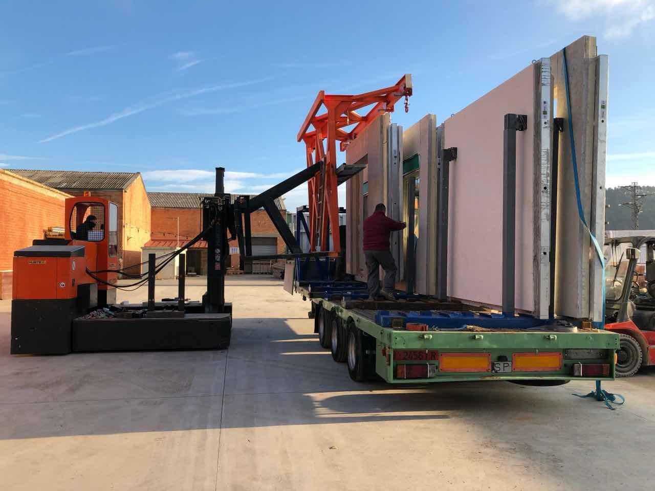 transporte paneles prefabricados