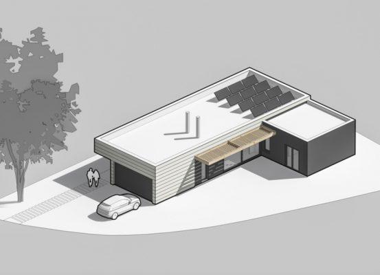 Casa pasiva con energía solar