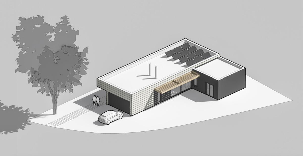 Casa passiva amb energia solar