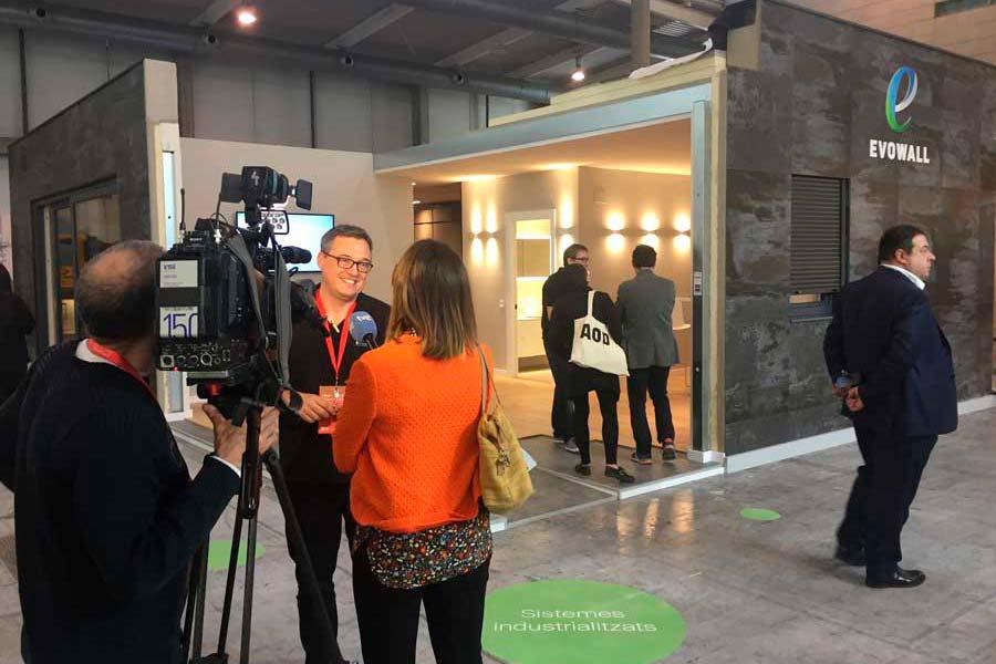 entrevista de tve a Evowall, casas pasivas