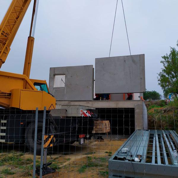 construcción de casa pasiva con cubierta plana en Pals, Gerona