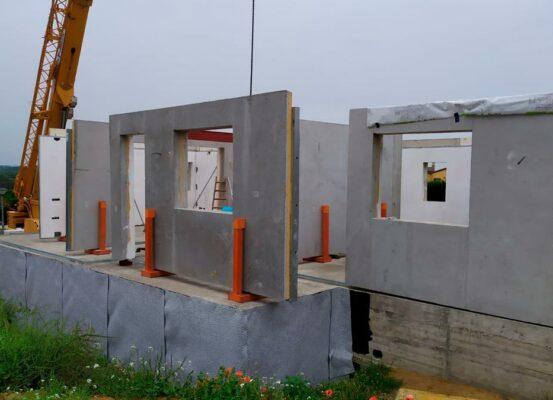 construcción de casa pasiva en Pals, Gerona