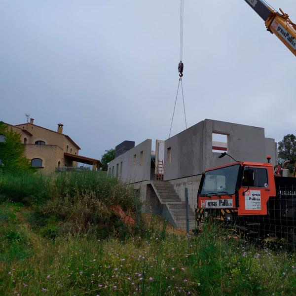 construcción de casa pasiva con sótano en Gerona