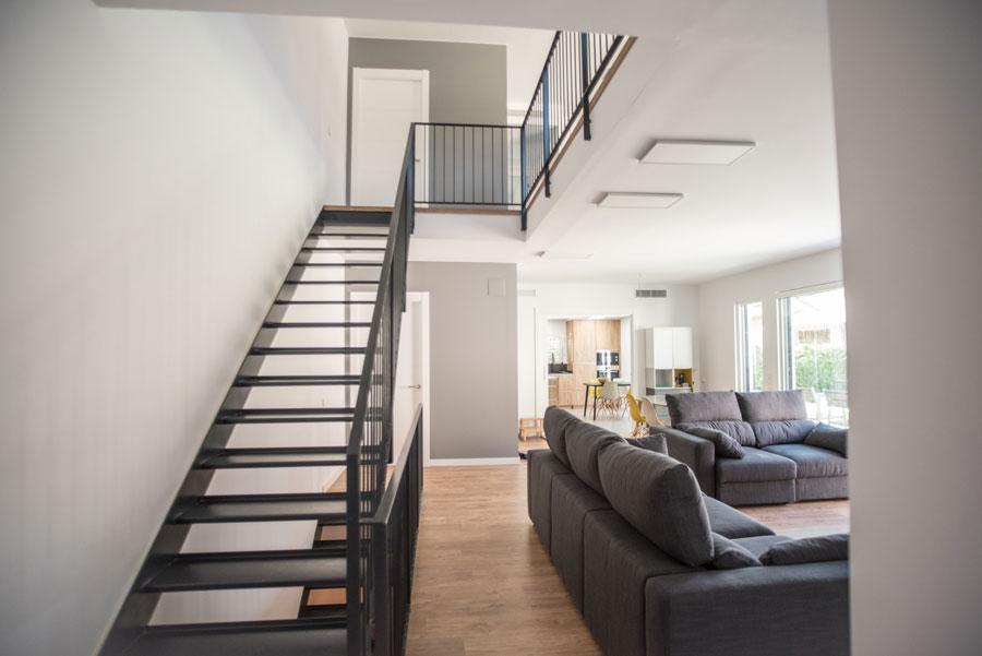 escaleras en casa Passivhaus