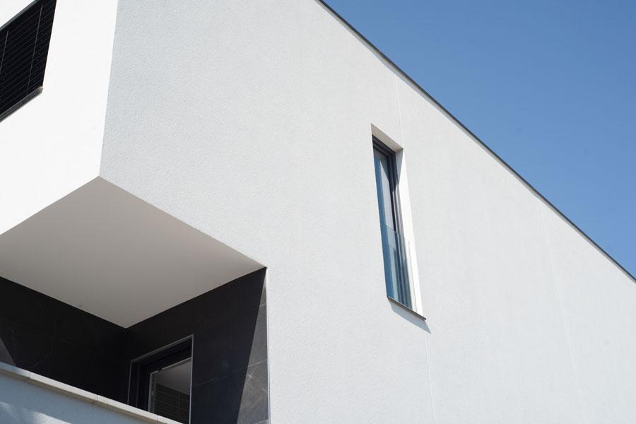 fachada weber en casa Passivhaus