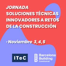 webinar ITeC - Soluciones técnicas innovadoras a retos de la construcción